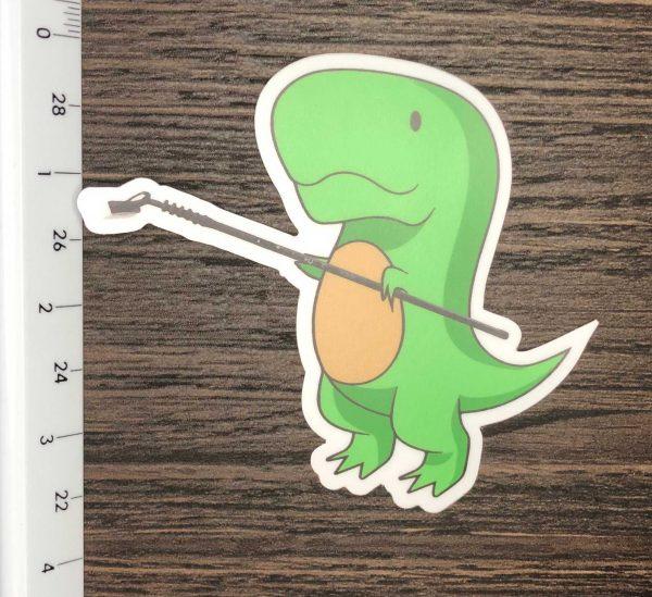 DINO BOAB sticker size